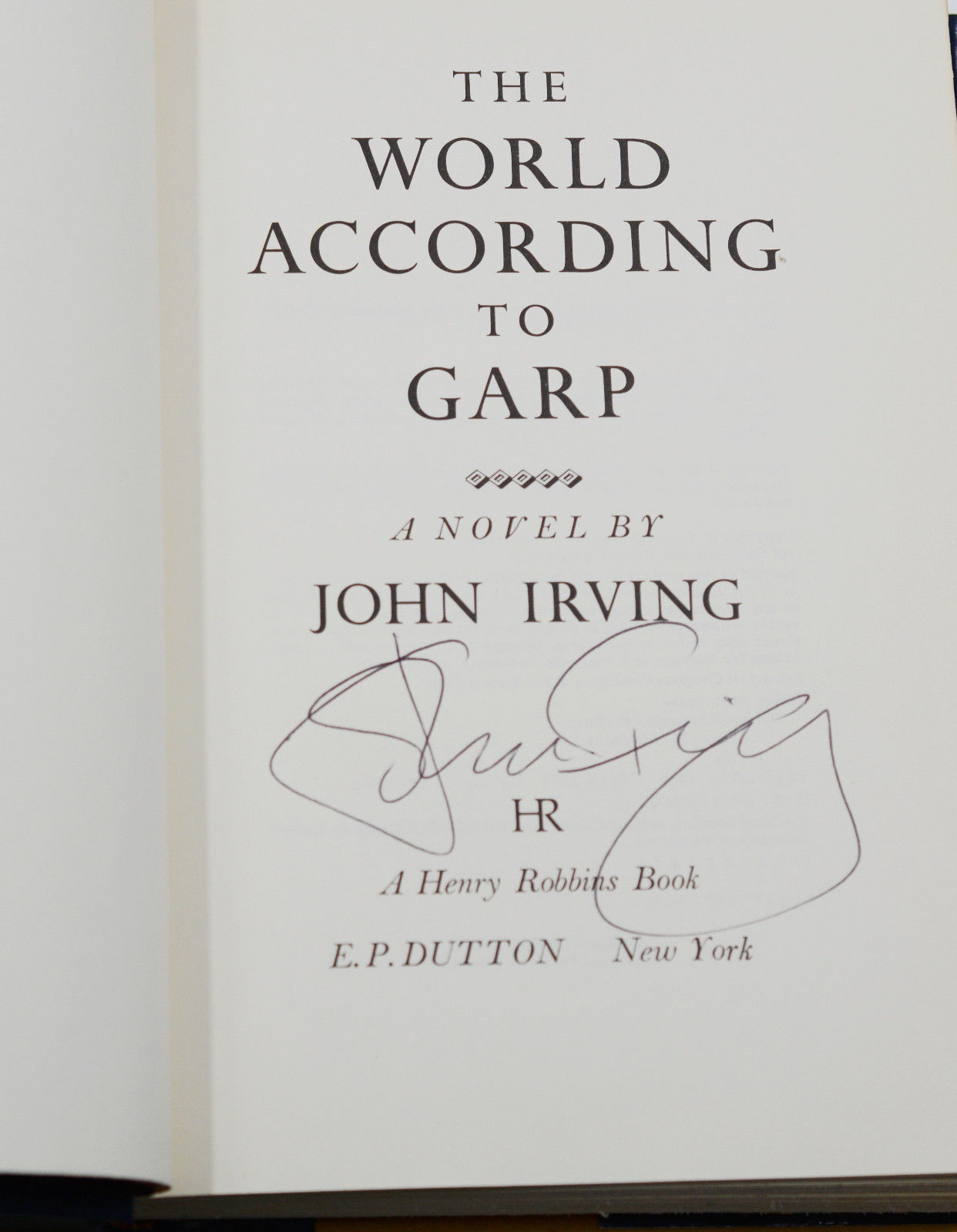 The World According to Garp by John Irving on Burnside Rare Books