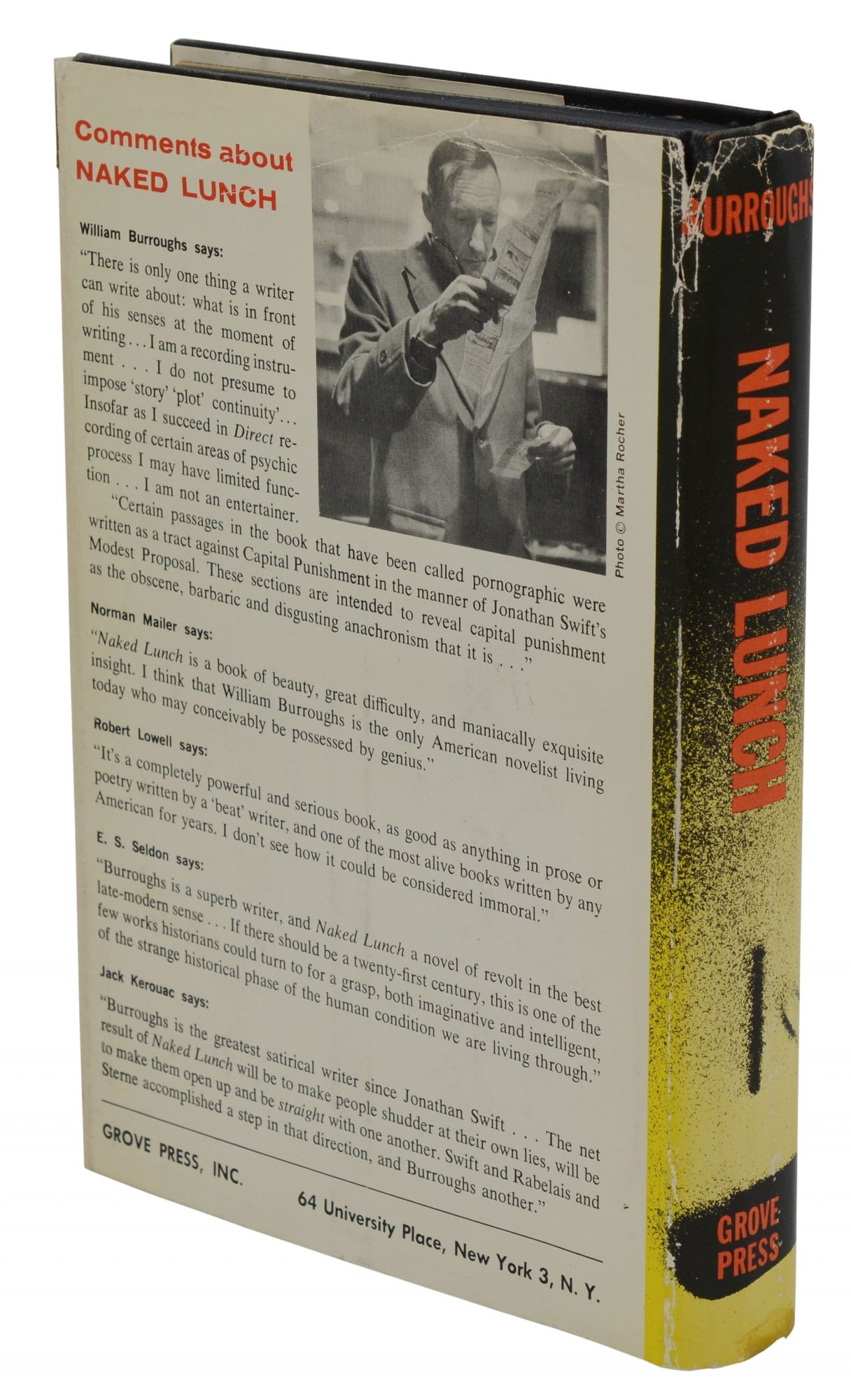 Naked Lunch by William Burroughs-First Edition in First