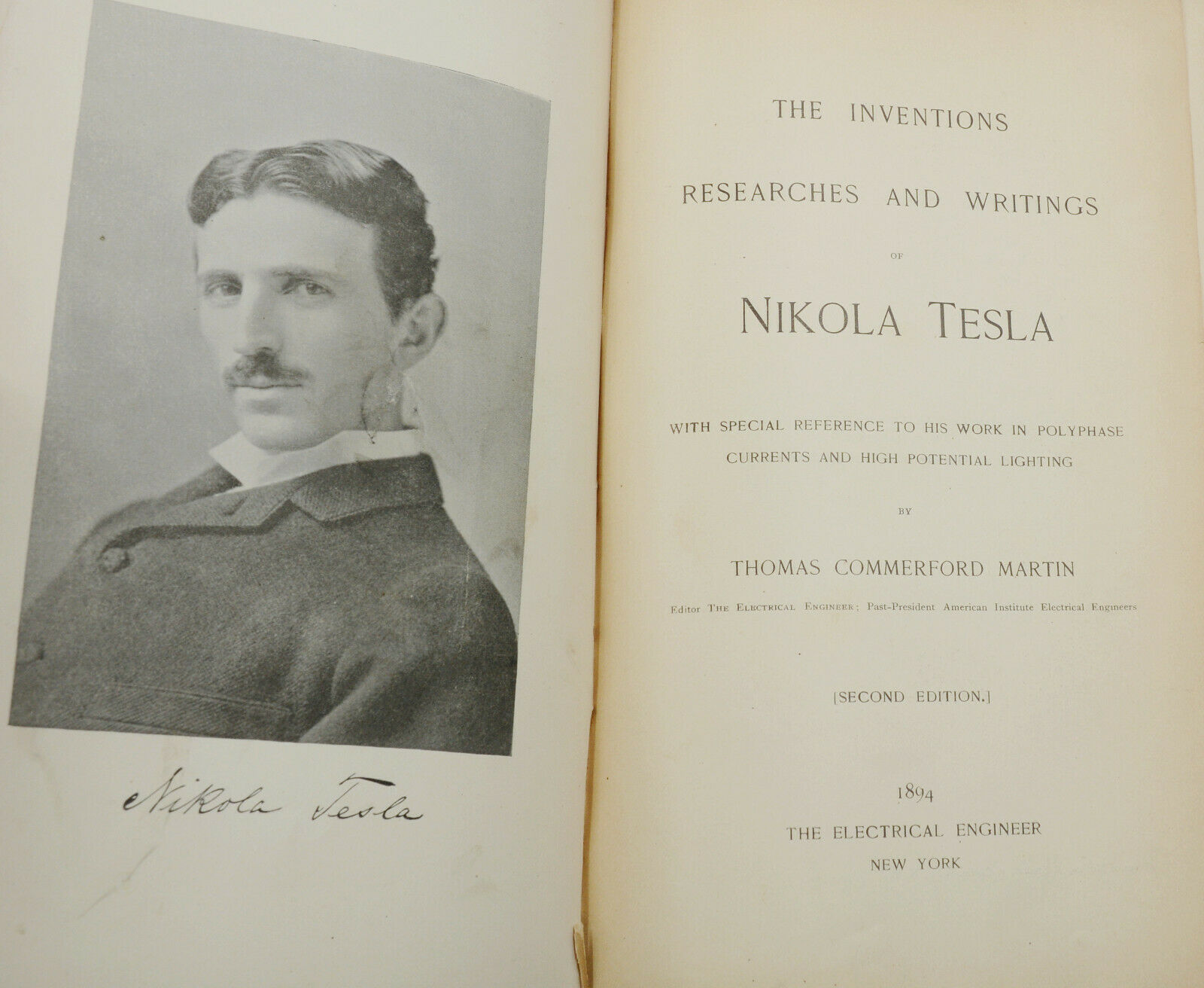 The Inventions, Researches and Writings of Nikola Tesla ...