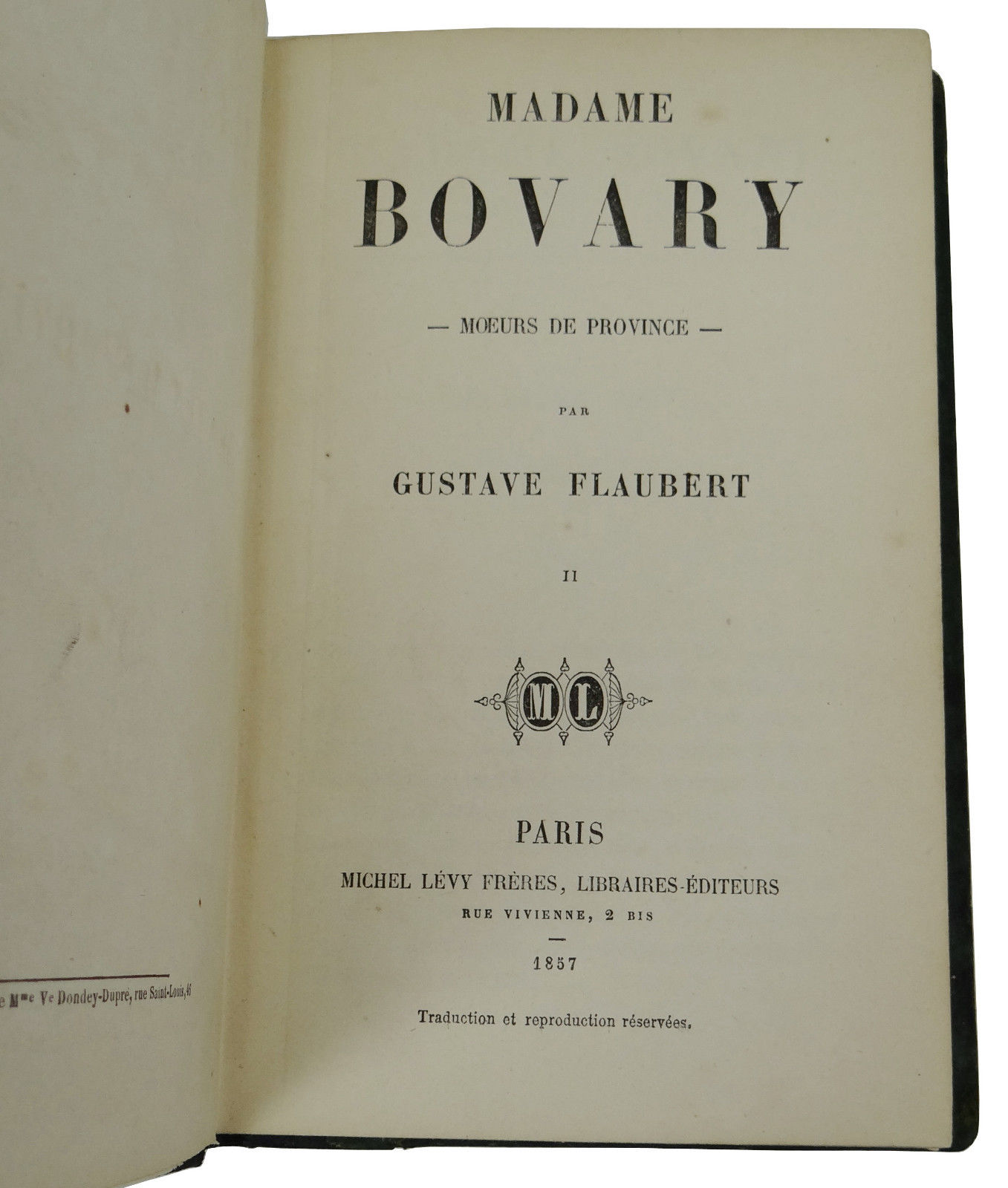 madame bovary gustave flaubert first edition madame bovary