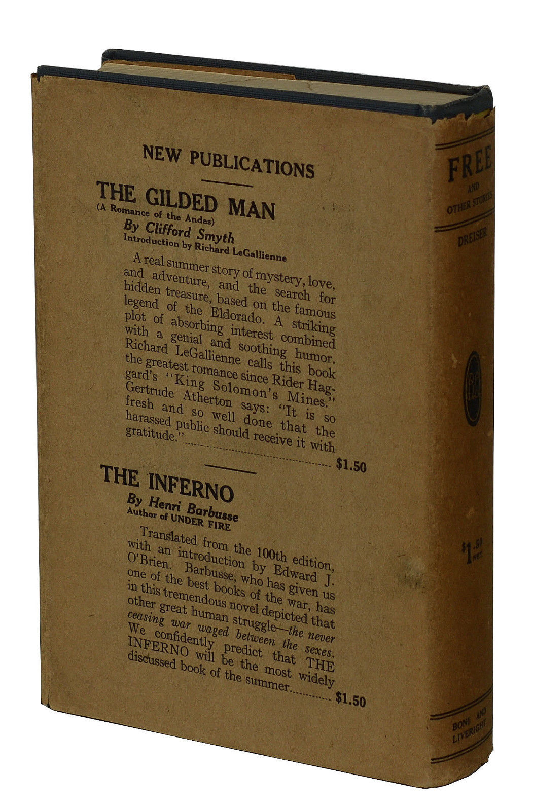 Free & Other Stories by Theodore Dreiser on Burnside Rare Books