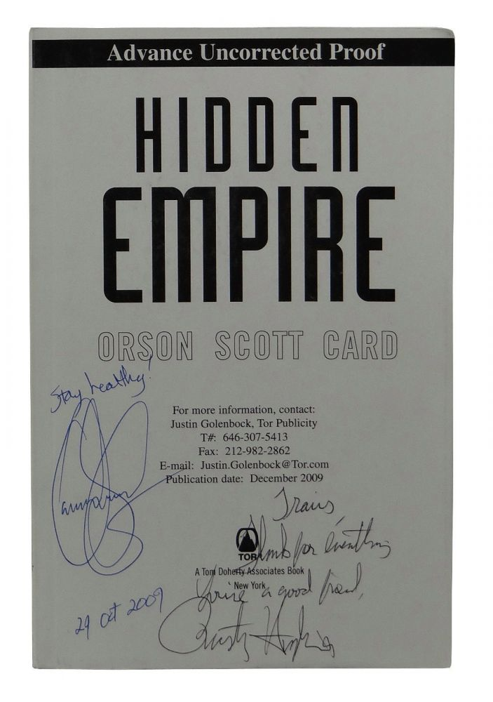 Hidden Empire. Orson Scott Card.