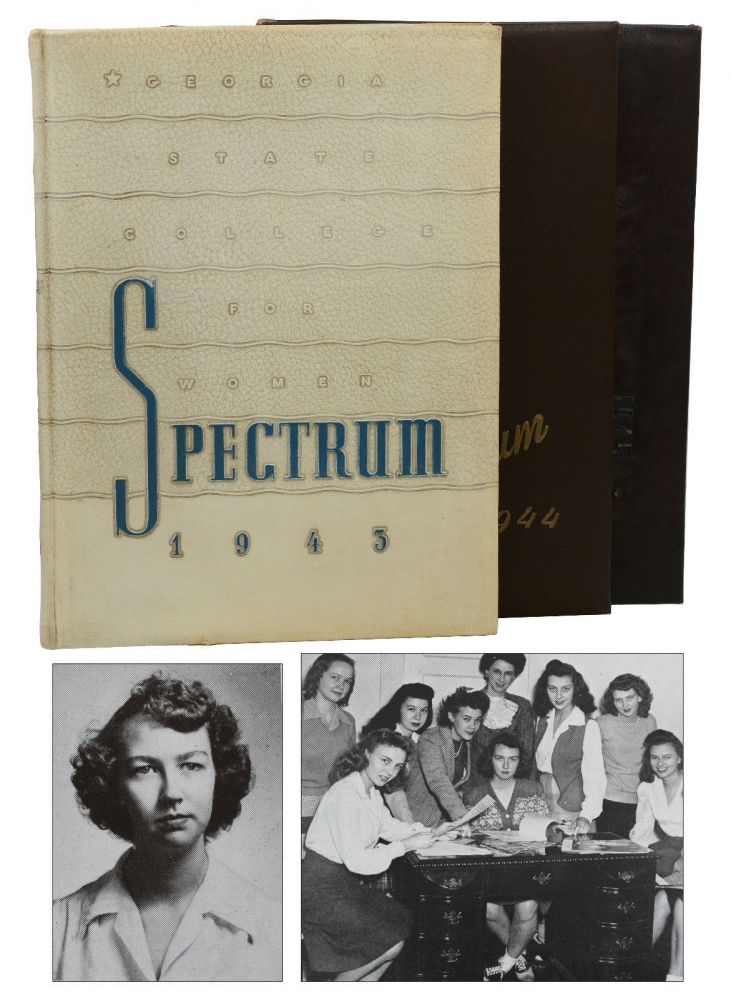 Georgia State College for Women, The Spectrum 1943, 1944, & 1945 (Three College Yearbooks