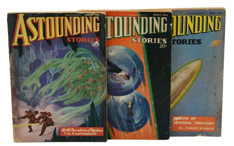 """""""At the Mountains of Madness"""" in Astounding Stories February-April 1936. H. P. Lovecraft."""
