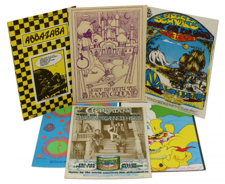 Six vintage psychedelic rock postcards from The Family Dog. The Family Dog.