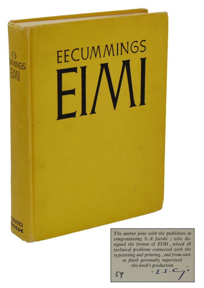 Eimi. E. E. Cummings.