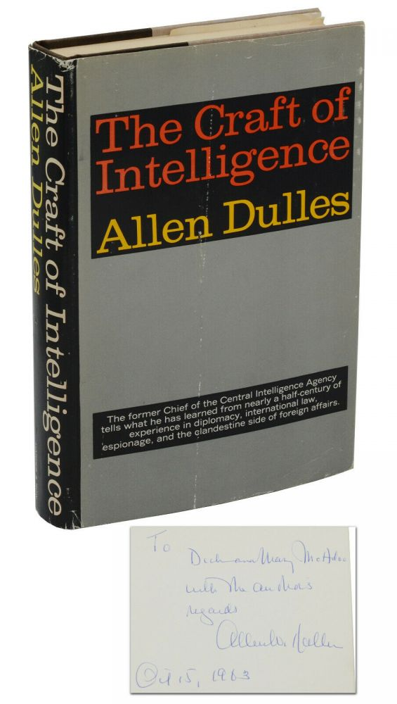 The Craft of Intelligence. Allen Dulles.
