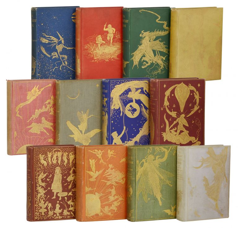 The Fairy Books: Blue, Red, Green, Yellow, Pink, Grey, Violet, Crimson, Brown, Orange, Olive and Lilac. Andrew Lang.