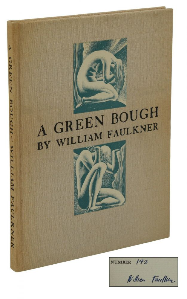 A Green Bough. William Faulkner, Lynd Ward, Cover Illustrations.