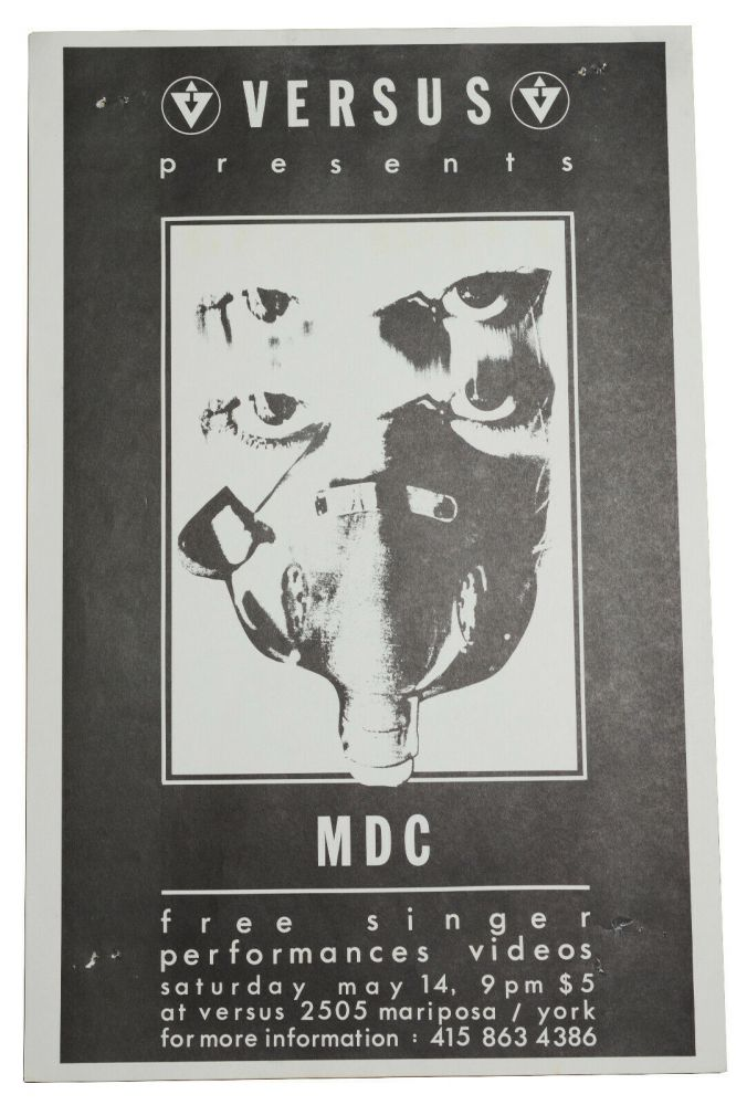 MDC (Millions of Dead Cops), May 14, [198?] at Versus, San Francisco (Original flyer)