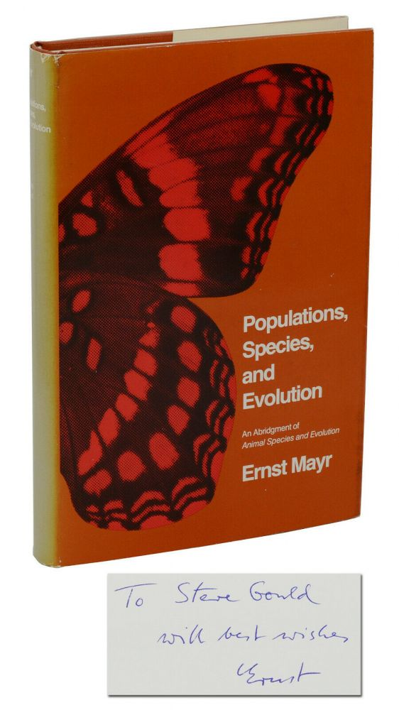 Populations, Species, and Evolution. Ernst Mayr, Stephen Jay Gould.