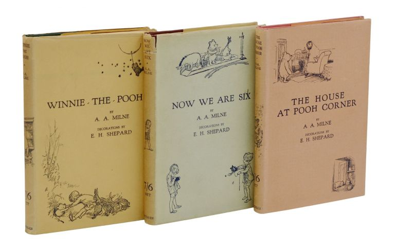 Winnie-the-Pooh; Now We Are Six; The House at Pooh Corner. A. A. Milne, E. H. Shepard, Illustrations.
