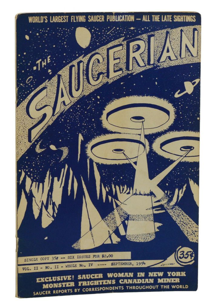The Saucerian, Vol. 2, No. 2; September, 1954. Gray Barker.