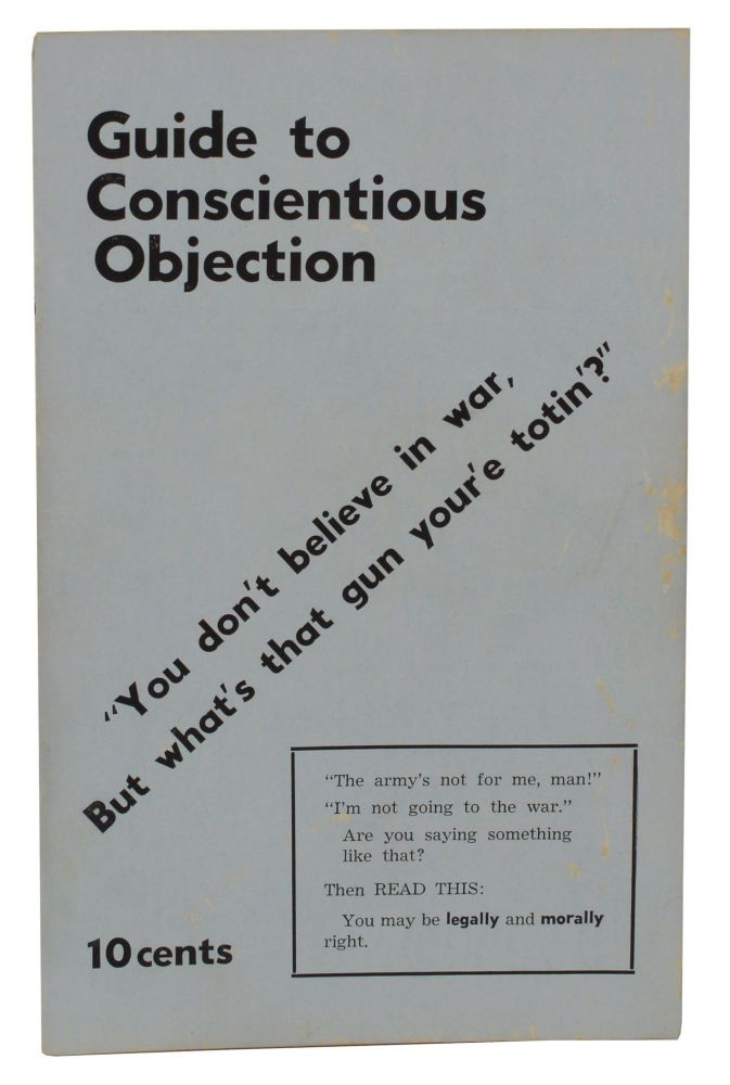 Guide to Conscientious Objection. Paul Lauter, Students for a. Democratic Society, SDS.