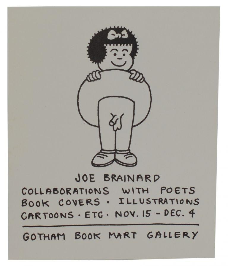 Joe Brainard: Collaborations with Poets, Book Covers, Illustrations, Cartoons, Etc. Joe Brainard, Illustrations.