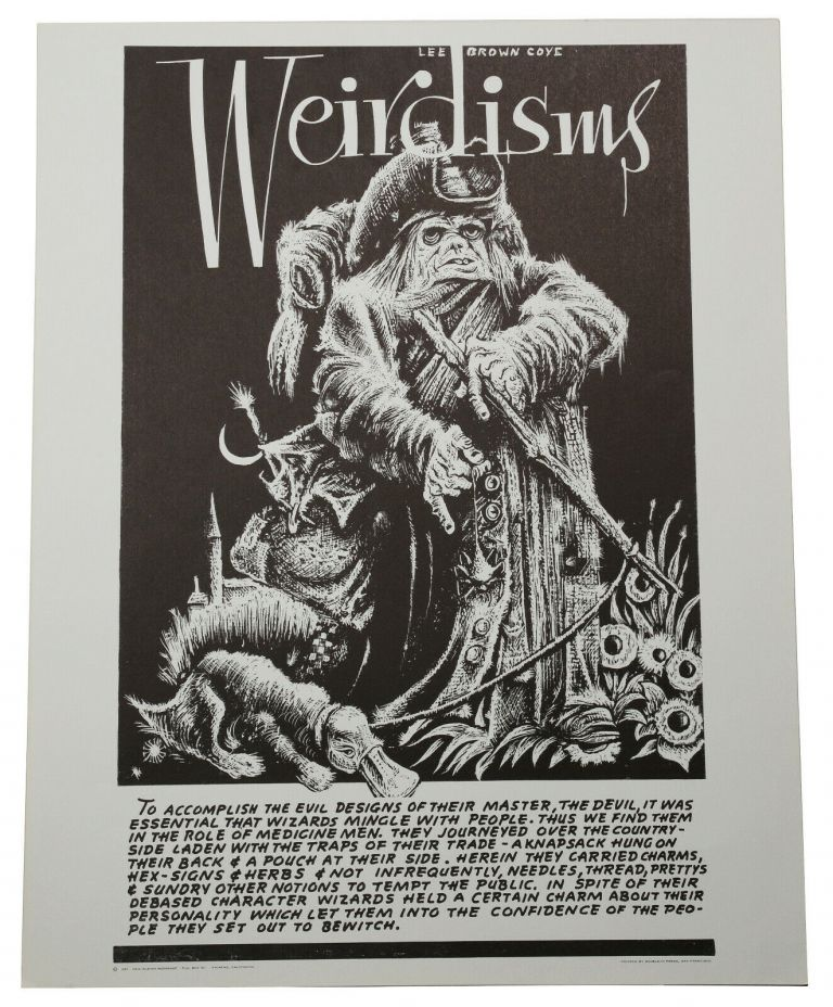 """Original """"Wizard"""" poster from Weirdisms series. Lee Brown Coye."""