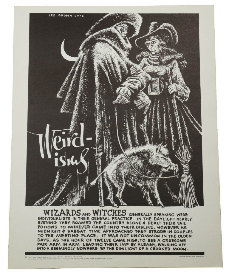 "Original ""Wizards and Witches"" poster from the Weirdisms series. Lee Brown Coye."