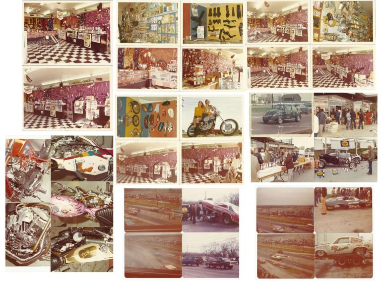 Photograph and Marketing Archive of White's Pit Stop, a Custom Drag Racing & Motorcycle Shop.