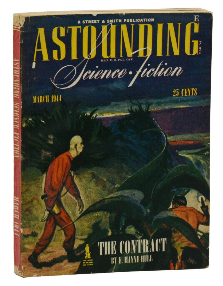 """Deadline"" in Astounding Science Fiction, March 1944. Cleve Cartmill."