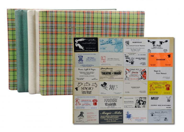 Large Collection of Magician Business Cards.