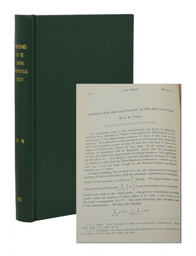 A Method for the Calculation of the Zeta-Function [In] Proceedings of the London Mathematical Society Second Series. Volume 48. A. M. Turing, Alan.