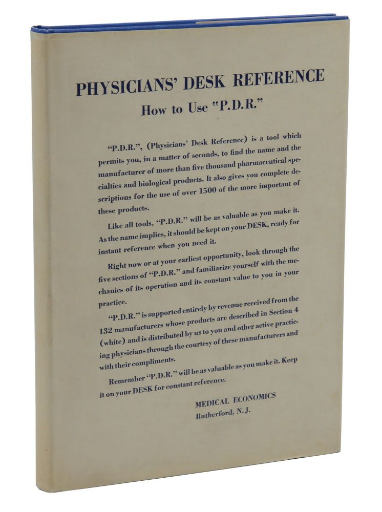 Physician's Desk Reference to Pharmaceutical Specialties and Biologicals. J. Morgan Jones.