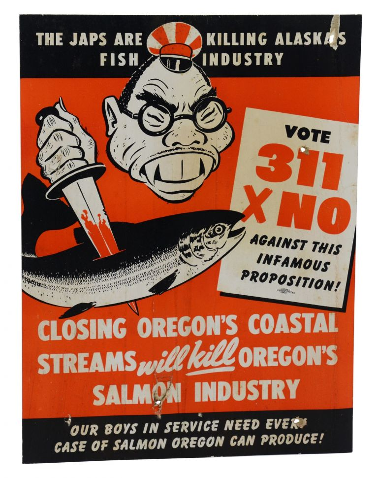 (Anti-Japanese WWII-era poster) The Japs are killing Alaska's fish industry. Anonymous.