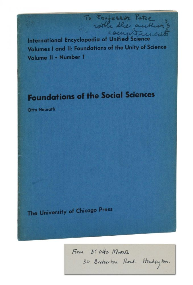 Foundations of the Social Sciences (International Encyclopedia of Unified Science, Volume II Number 1). Otto Neurath.