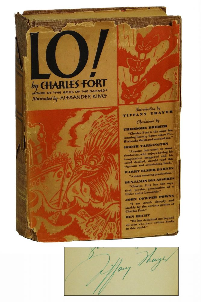 Lo! Charles Fort, Tiffany Thayer, Foreword.