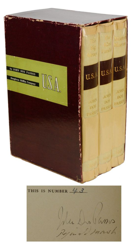 U.S.A. Trilogy: The 42nd Parallel; Nineteen Nineteen; and The Big Money [3 Volumes]. John Dos Passos, Reginald Marsh.