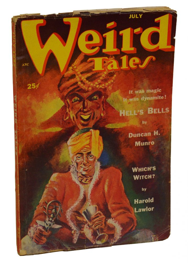 Weird Tales July 1952. H. P. Lovecraft, Harold Lawlor.