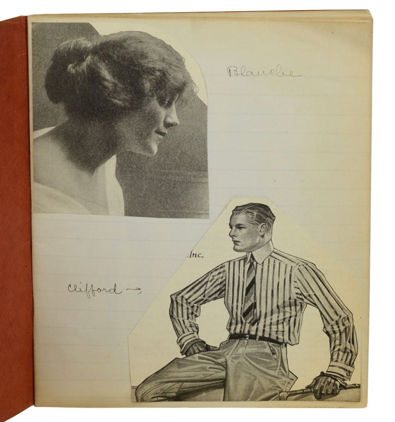 """""""Blanche"""" (Anonymous handmade manuscript of cut-outs of magazine illustrations, loosely narrated). Anonymous."""