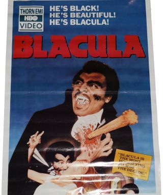 Blacula (Original one-sheet poster for video release