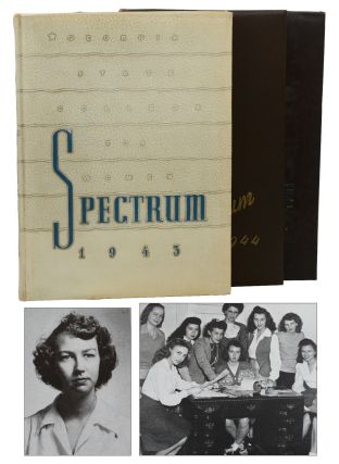 Georgia State College for Women, The Spectrum 1943, 1944, & 1945 (Three College Yearbooks)....