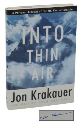 Into Thin Air. Jon Krakauer.