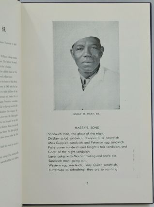 Harry H. Hart's Favorite Recipes of Williams College with Training Table Records, Notes and Menus