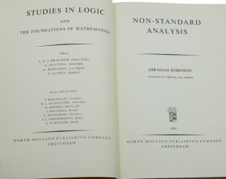 Non-standard Analysis (Studies in Logic and the Foundation of Mathematics)