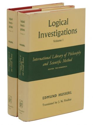 Logical Investigations (Volumes I & II). Edmund Husserl, J. N., Findlay.