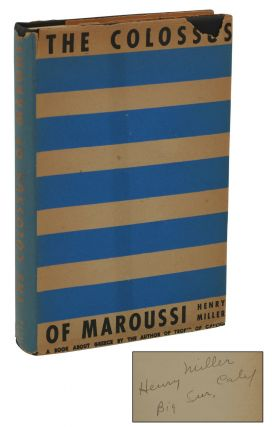 The Colossus of Maroussi. Henry Miller.