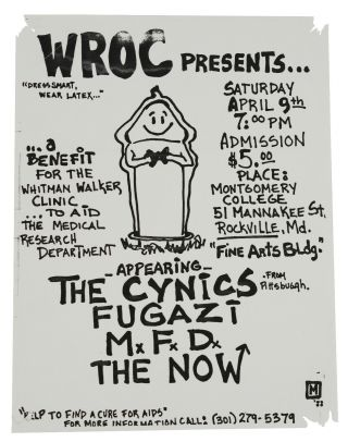The Cynics, Fugazi, M.F.D., & The Now Flyer for April 9, 1988 Show at the Fine Arts Bldg at...
