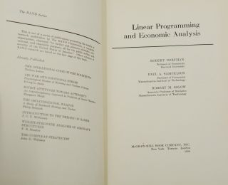 Linear Programming and Economic Analysis (Nobel Laureate Robert Fogel's Copy)