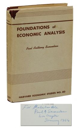 Foundations of Economic Analysis. Paul Samuelson