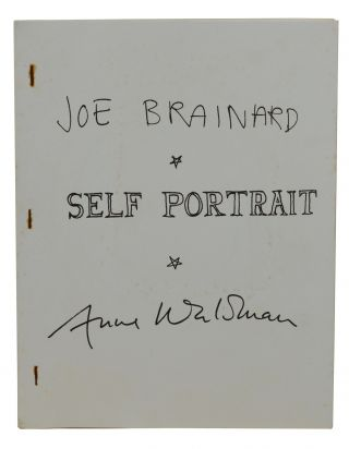 Self Portrait. Joe Brainard, Anne Waldman