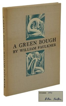 A Green Bough. William Faulkner, Lynd Ward, Cover Illustrations