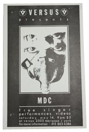 MDC (Millions of Dead Cops), May 14, [198?] at Versus, San Francisco (Original flyer