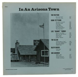 "In An Arizona Town. Keith Cunningham, Van Holyoak, Bunk Pettyjohn, Lois ""Granny"" Thomas, Tim..."