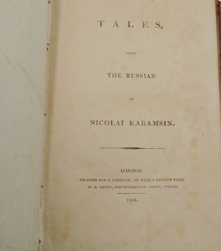 Tales from the Russian by Nicolai Karamsin
