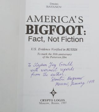 America's Bigfoot: Fact, Not Fiction, U.S. Evidence Verified in Russia