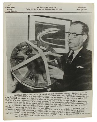 The Saucerian Bulletin: Latest News About Flying Saucers, Vol. 3, No. 2; May 1, 1958. Gray Barker