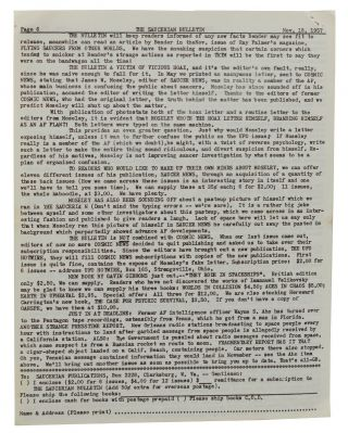 The Saucerian Bulletin: Latest News About Flying Saucers, Vol. 2, No. 4; November 18, 1957